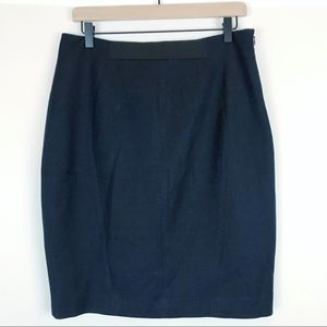 T Tahari Navy Pencil Skirt